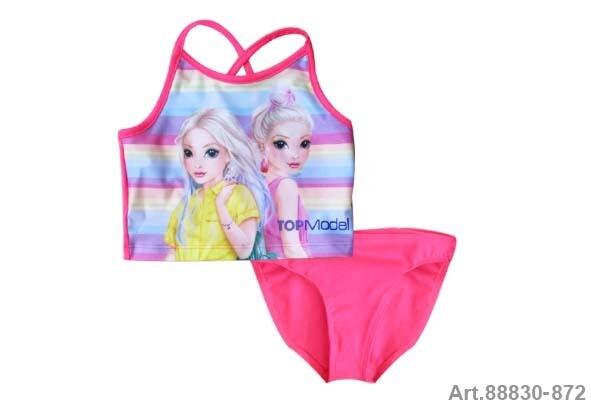 Maillot de bain 2 pièces rose Top Model