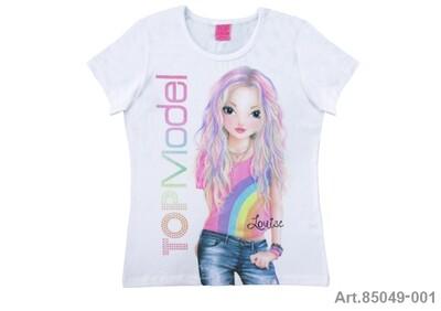 Tee shirt Top Model arc-en-ciel
