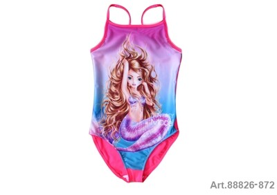 Maillot de bain  rose 1 pièce Top Model sirène