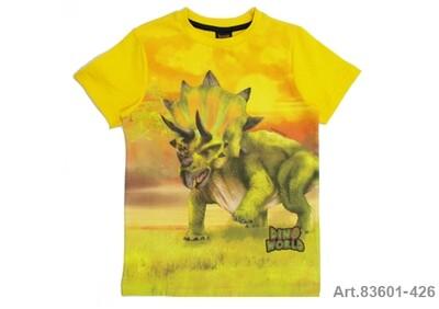 Tee shirt jaune imprimé dinosaure