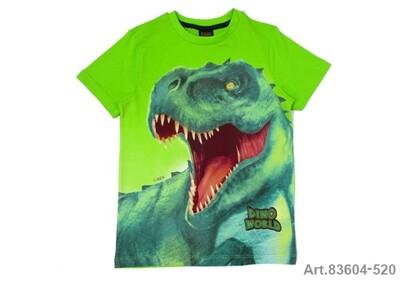 Tee shirt vert pomme imprimé dinosaure