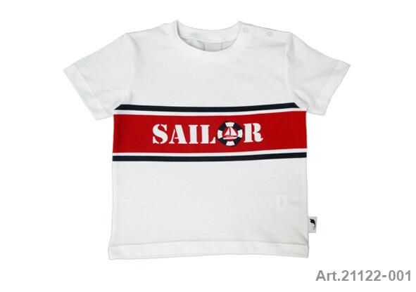 Tee shirt blanc imprimé Sailor Stummer