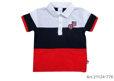 Polo blanc, marine et rouge Stummer