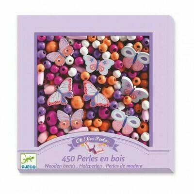 Oh! Les Perles. 450 Perles en bois. Papillons Djeco