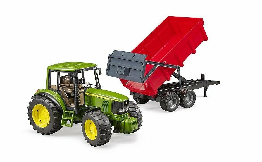 Tracteur John Deere  6920 avec remorque à benne basculante Brüder