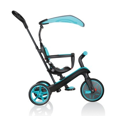 GLOBBER Tricycle Explorer Trike 4 en 1 bleu turquoise