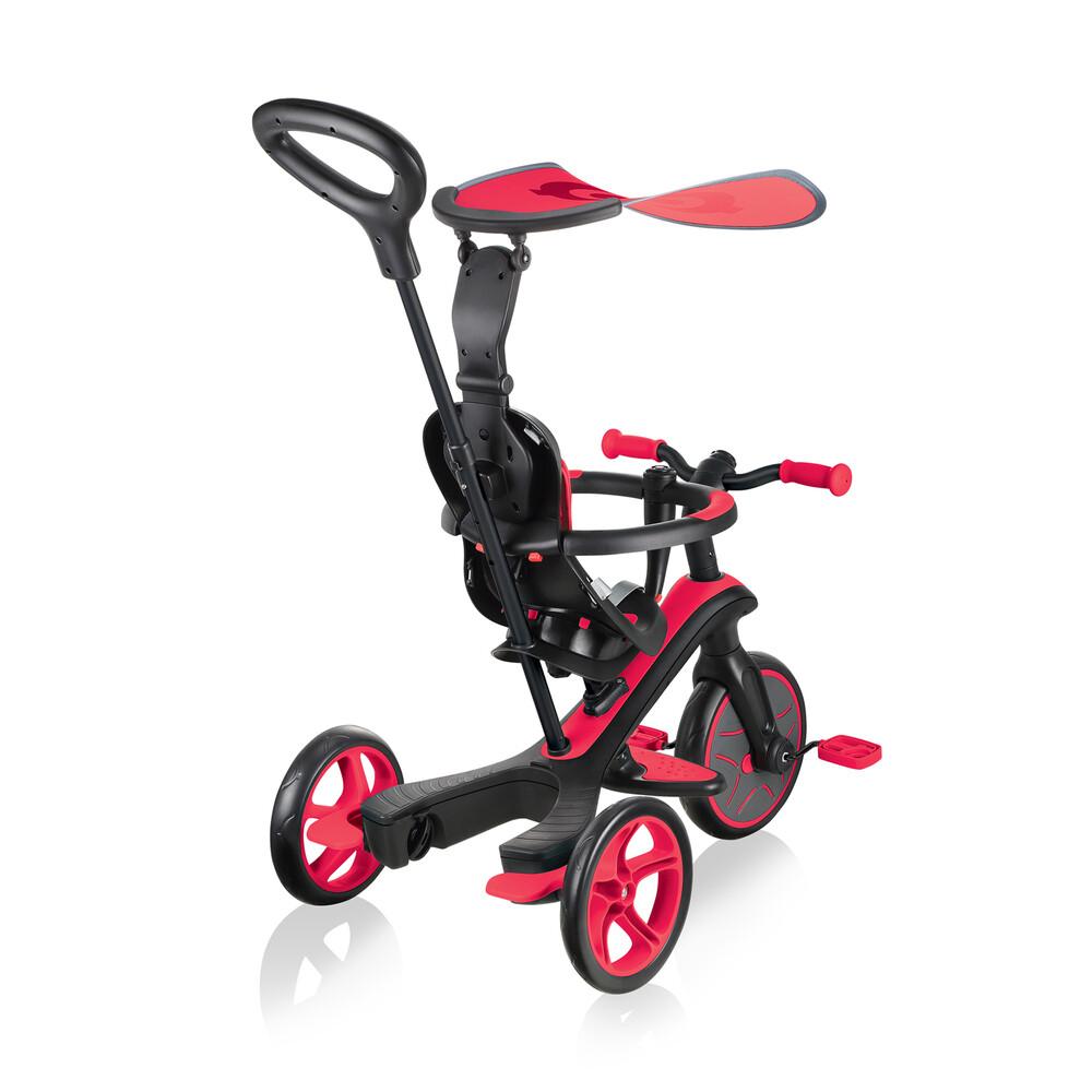 GLOBBER Tricycle Explorer Trike 4 en 1 Rouge