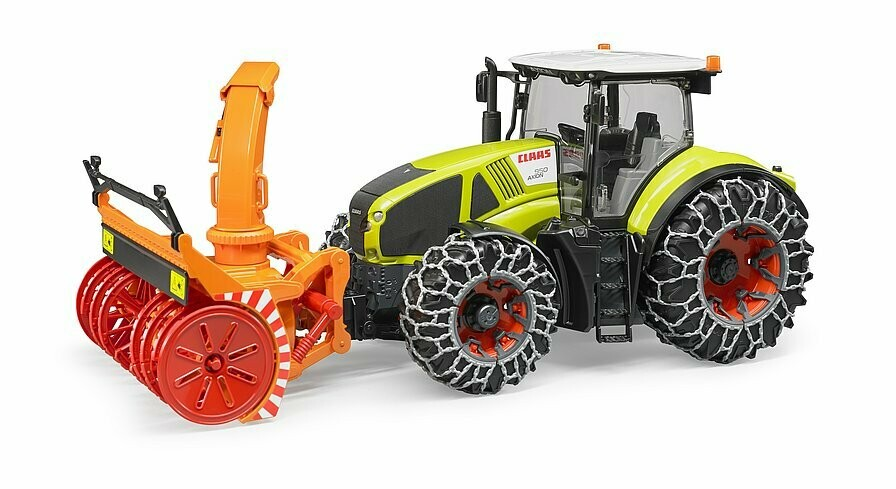 Tracteur Class Axion 950 avec chaînes à neige et souffleuse Brüder