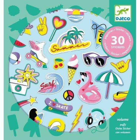30 stickers en volume California Djeco