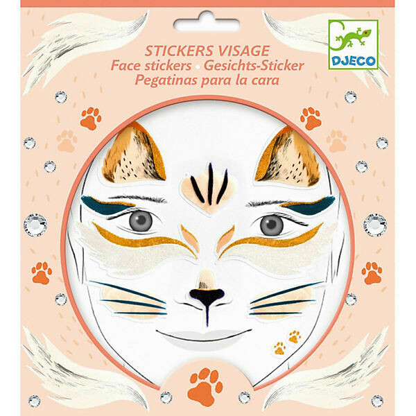 Stickers visages Chat Djeco