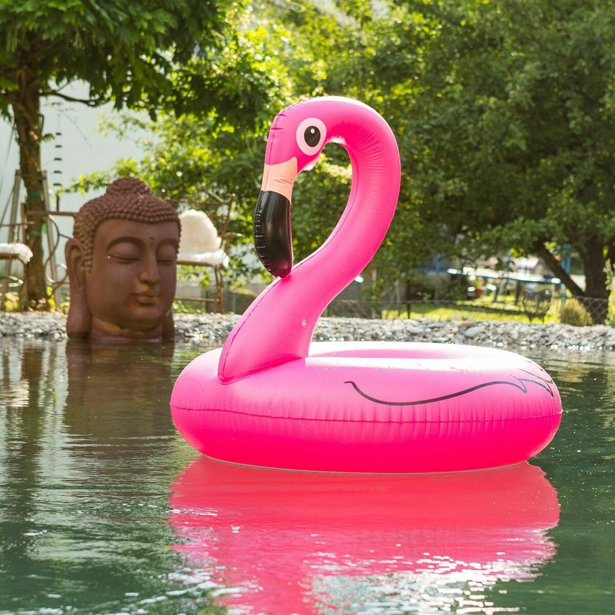 Flamant rose grande bouée