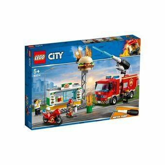 Lego City l'intervention des pompiers au resto de hamburgers