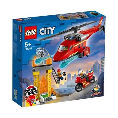 Lego City l'hélicoptère de secours des pompiers