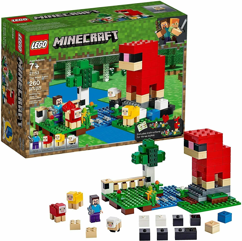 Lego Minecraft la ferme à laine