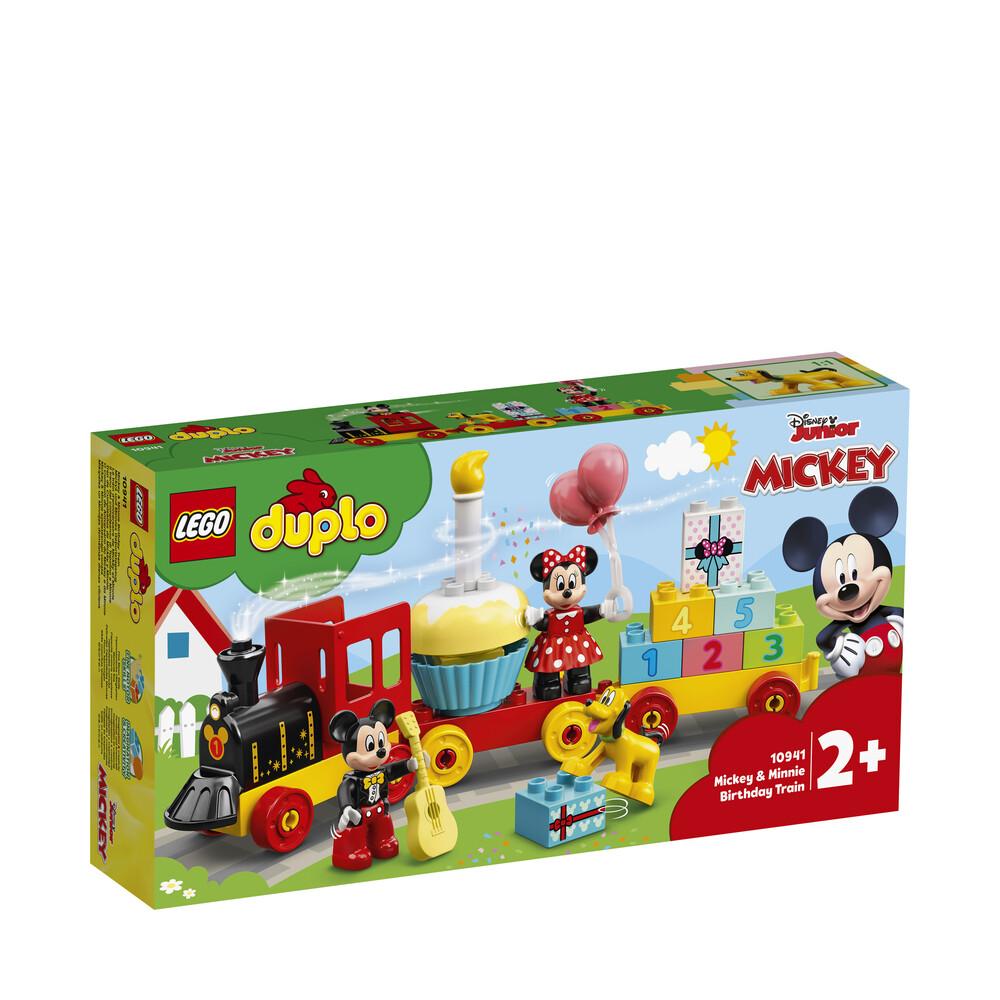 Lego Duplo le train d'anniversaire de Minnie et Mickey