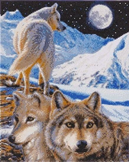 Crystal Art les loups sentinelles