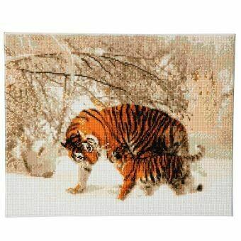 Crystal Art tigres en hiver