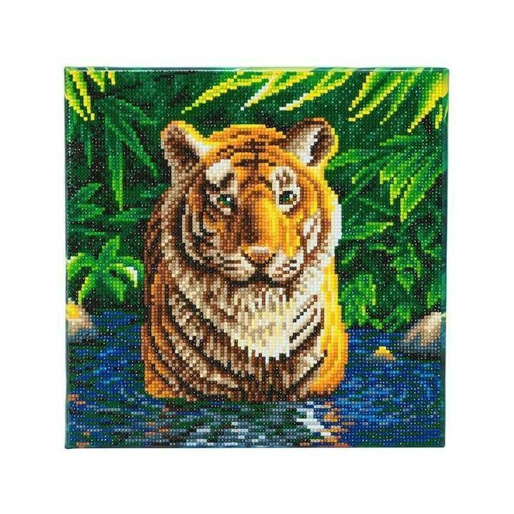 Crystal Art Tigre dans l'eau