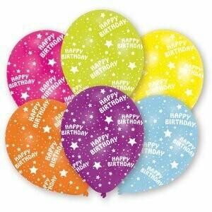 Ballons Happy Birthday 6 pièces