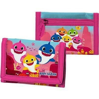 Baby Shark rose portemonnaie