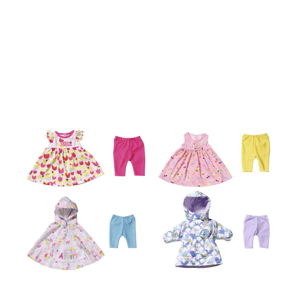 Baby Born set de 4 tenues, vêtements 4 saisons