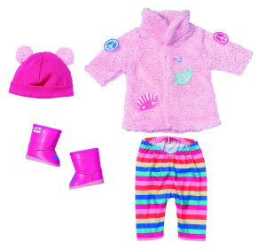 Baby Born set vêtement avec manteau brillant