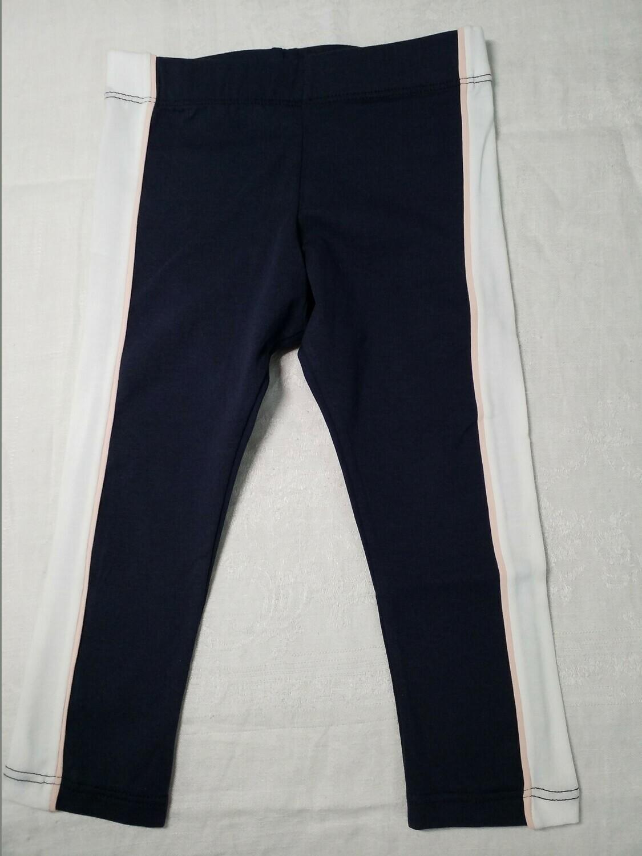 Pantalon marine avec ligne blanche et rose sur le côté Stummer