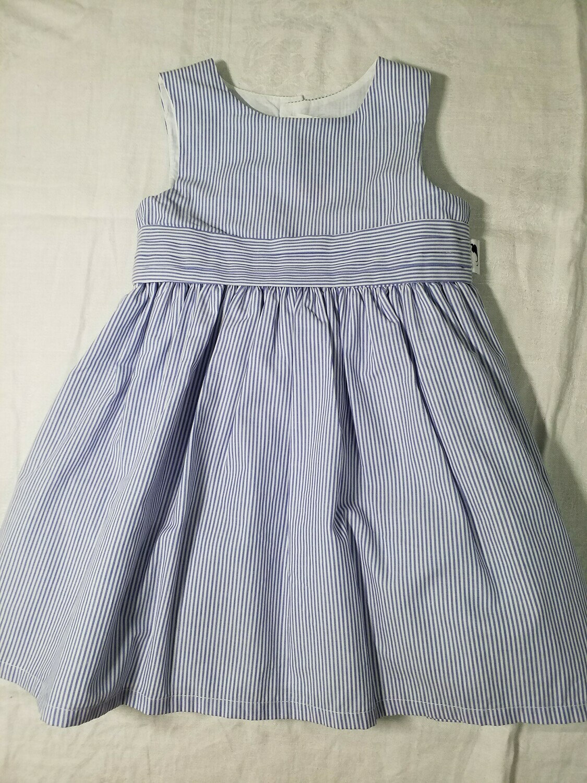 Robe  popeline bleu lavande rayée Stummer