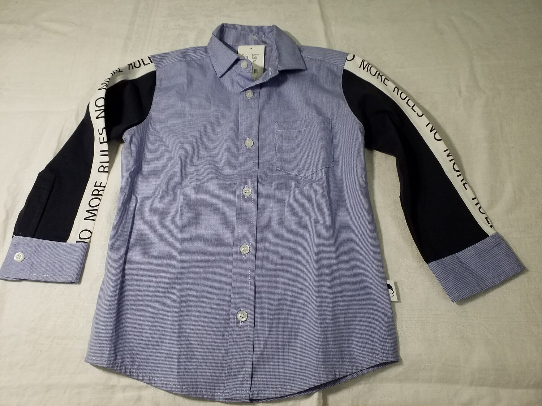 Chemise bleue mini-carreau Stummer