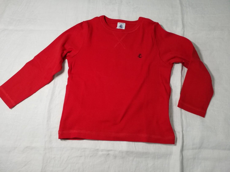 Pull rouge uni Petit Bateau