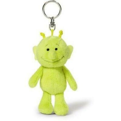 Porte-clés robot vert acide  peluche Nici