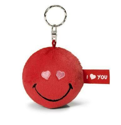 Smiley rouge I Love You porte-clés peluche Nici