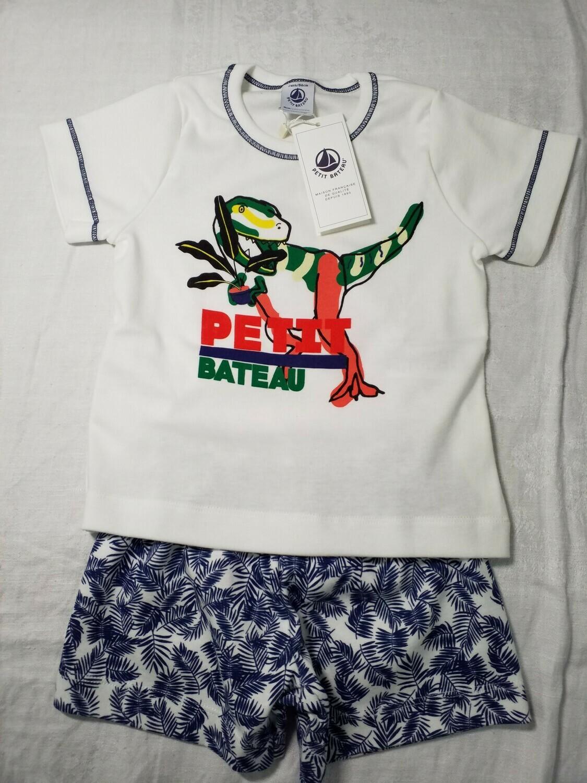 Pyjama court imprimé jungle et dinosaure Petit Bateau