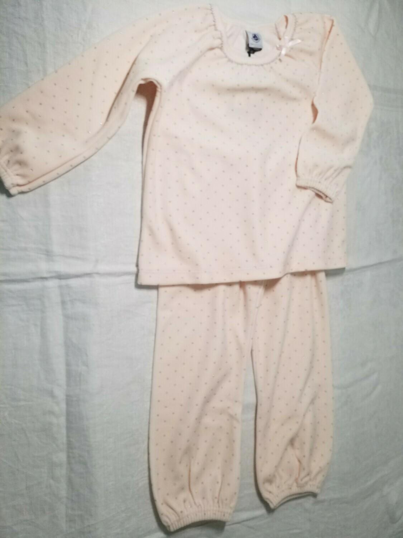 Pyjama velours avec brillant argenté Petit Bateau