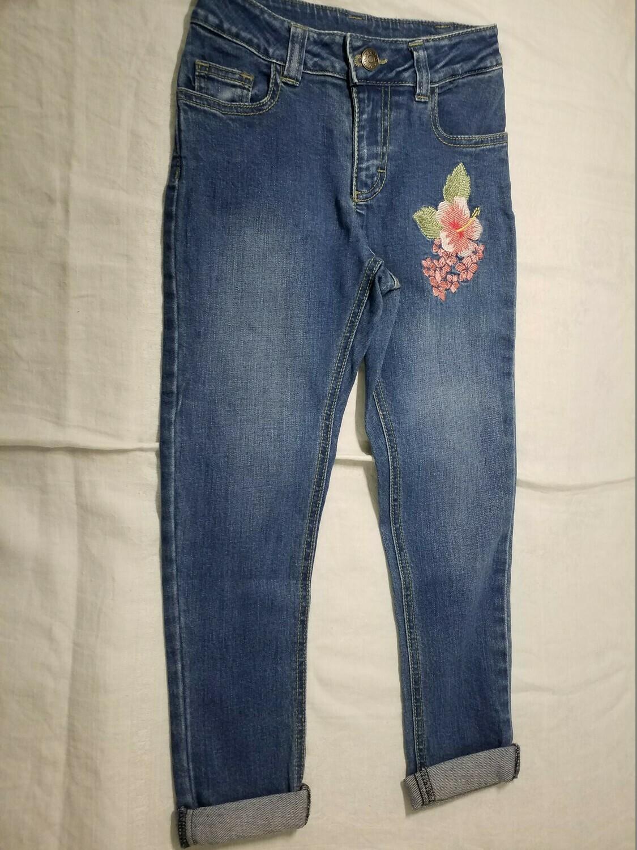 Jeans imprimé fleur tropicale Stummer