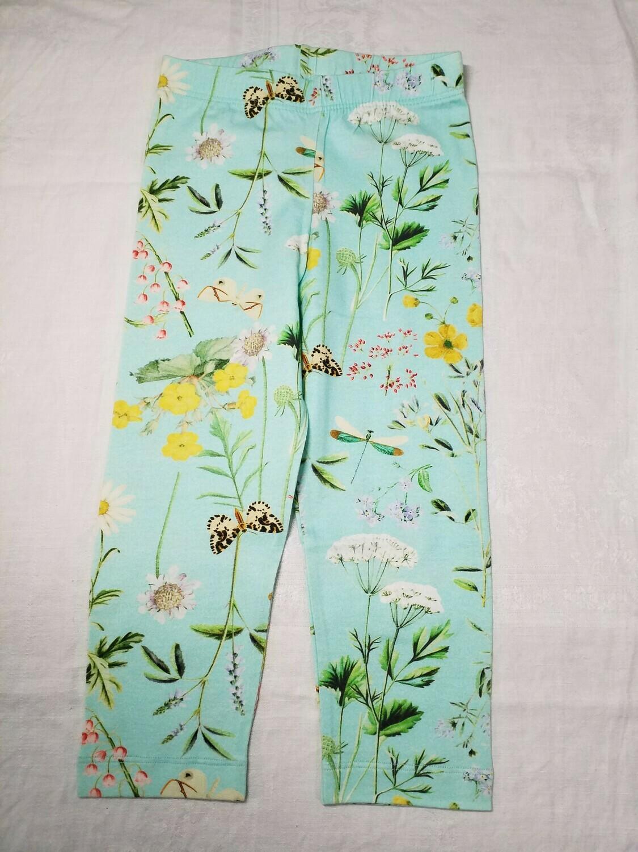 Pantalon court corsaire bleu fleuri Stummer