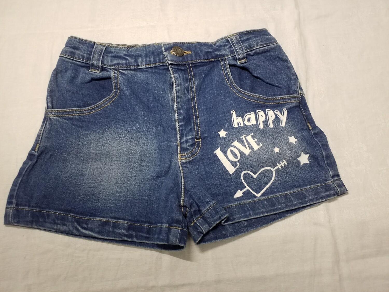 Short jeans imprimé Happy Love Stummer