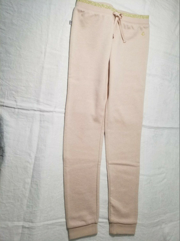 Pantalon jersey rosé avec fil brillant Petit Bateau