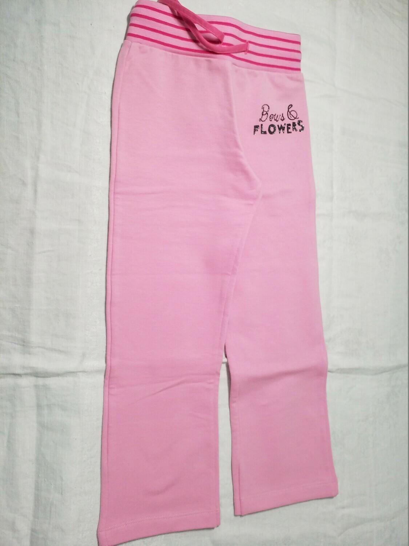 Pantalon droit en jersey rose