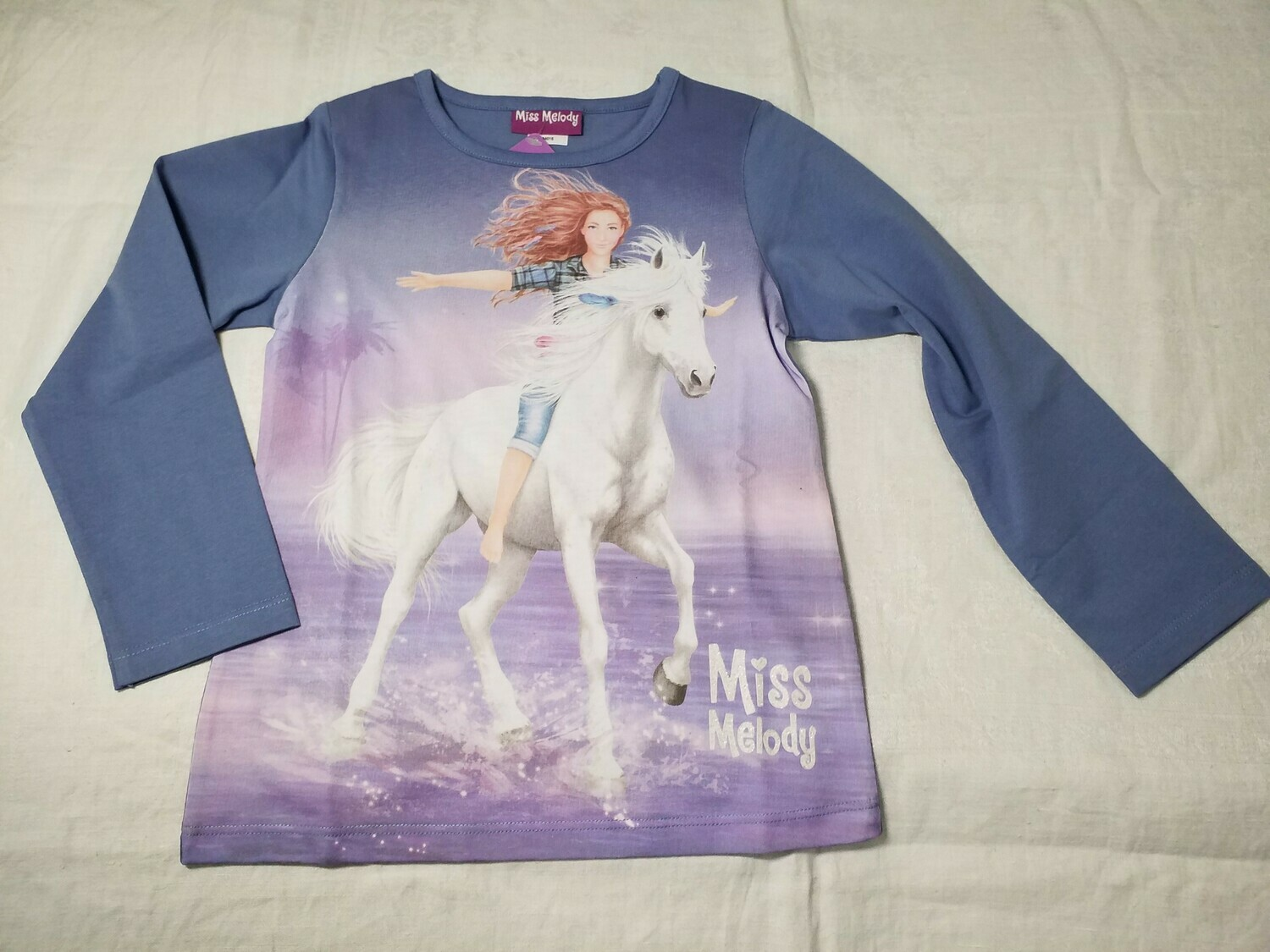 Pull bleu-violet cheval blanc Miss Melody