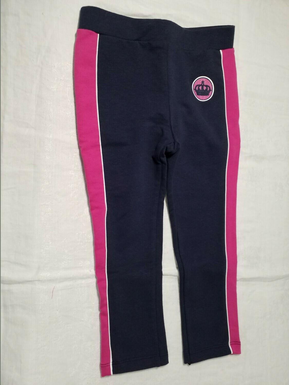 Pantalon jersey marine avec ligne fuchsia sur le côté Stummer