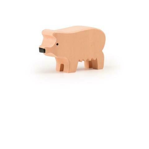 Grand cochon rose en bois Trauffer no 1211