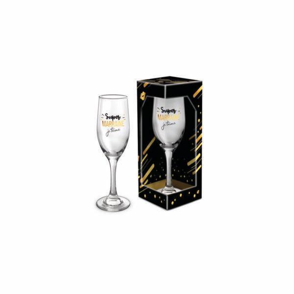 Flûte à champagne Super marraine