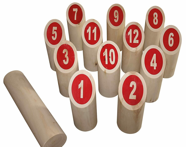 Kubb à numéros en bois, jeu du viking Beluga