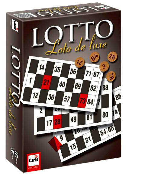 Lotto de luxe Carlit, avec pions en bois