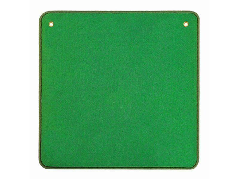 Tapis de jeu de cartes en velours vert 60x60 cm