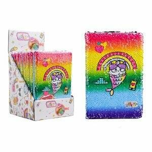 Cubiesquad bloc-notes avec paillettes réversibles sirène-licorne