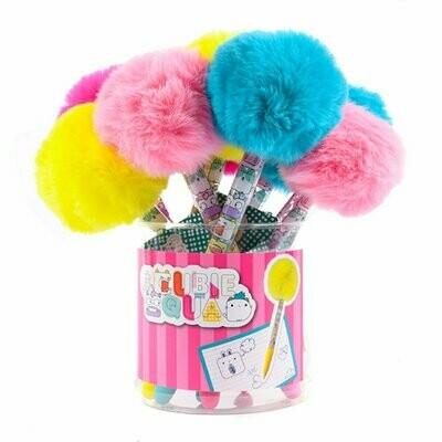 Cubiesquad Stylo avec pompon  couleurs assorties