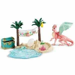 Île aux dragons avec son trésor