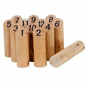 Kubb à numéro, jeu du viking en bois